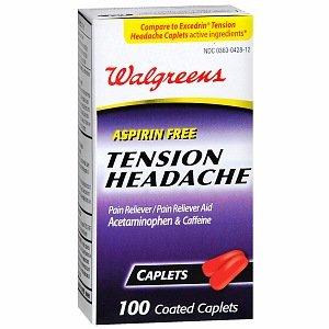 Walgreens tension Caplets Maux de