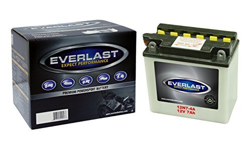 EverLast 12N7-4A 12V Convential Battery with Acid Pack (5 3/8 L X 3 W X 5 1/4 H)