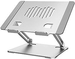 Hiyoo PCスタンド ノートパソコンスタンド タブレットスタンド 無段階高さ調整可能 高さ・角度を自由に調節可能 折りたたみ式 収納可能 持ち運び便利 滑り止め アルミ合金製 優れた放熱性 10-17.3インチに対応...