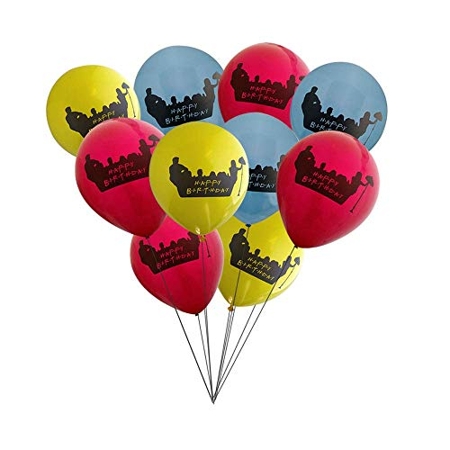 (RazzleDazzleCelebrations Friends on Couch Party Balloons 10 inch Latex 10ct)