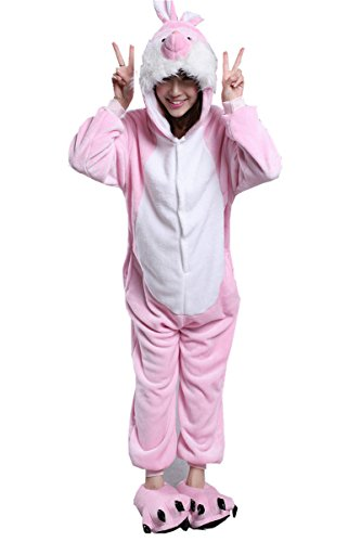 Scary Easter Bunny Costumes (Easter Bunny Costume Animal One Piece Kigurumi Cosplay Pajamas M)