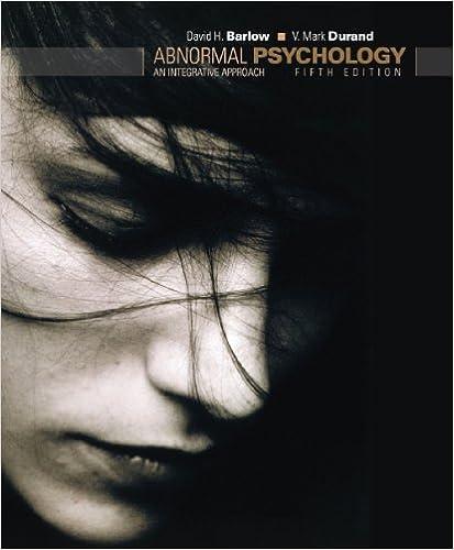 Amazon Com Abnormal Psychology An Integrative Approach