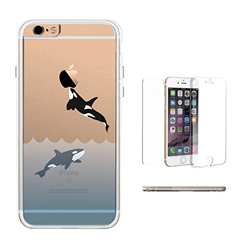 365Printing 360° Full Protection Killer Whale Clear Cover Transparent Phone (Transparent Whale)