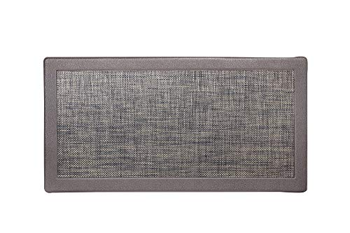 Hillside Oversized Oil- and Stain-Resistant Anti-Fatigue Kitchen Mat (1- or 2-Pack) (2-Pack Espresso)
