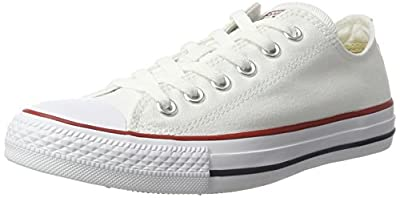 Converse Men's All Star Lean Ox Canvas Lace-Up Trainer White-White-10