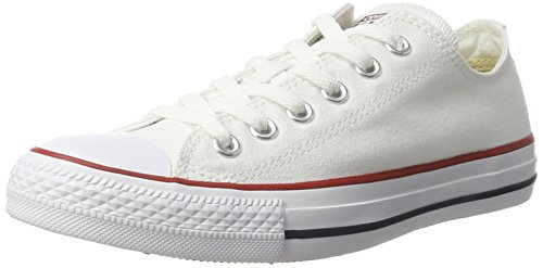 - Converse Unisex Chuck Taylor All Star Ox Low Top Classic White Sneakers - 9.5 B(M) US Women / 7.5 D(M) US Men