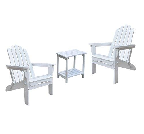 Shine Marina Adirondack Chairs With Rectangular Side Table Bundle in ()