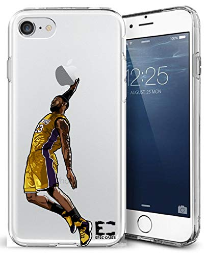 (iPhone6/6S iPhone 7/iPhone 8 Case Epic Cases Ultra Slim Crystal Clear Basketball Series Soft Transparent TPU Case Cover Apple (iPhone 6/6s) (iPhone 7) (iPhone 8) - King James LBJ Lakers (iPhone 6/7/8))
