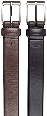 Dockers Mens Two Belts in a Box Gift Set