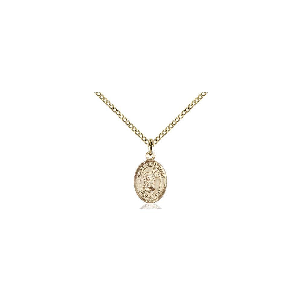 DiamondJewelryNY 14kt Gold Filled St Stephanie Pendant