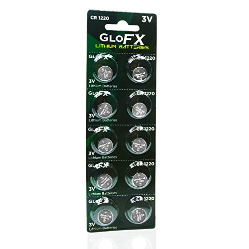 (CR1220 Battery– Lithium Button Coin Cell Batteries - 3V 3 Volt - Remote Watch Jewelry led Key fob Replacement 1220 CR Pack Set Bulk (10)