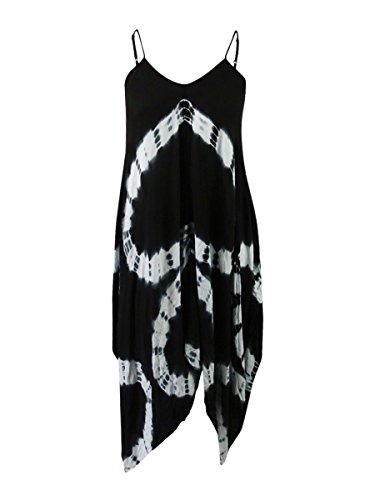 - Raviya Womens Maxi Tie-Dye Dress Swim Cover-up Black S
