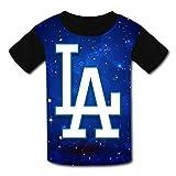 HONGGUANG Unique Los_Angeles_Dodgers_Logo Children's Short Sleeve T-Shirts