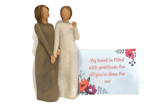 Willow Tree My Sister My Friend Figurine. Best Sister, Friendship Gift for Birthday, Valentines Day, Special - Cards Uk Egift