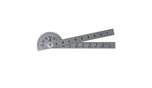 Mini Protractor Stainless 100mm 20g
