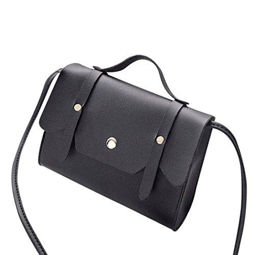 vintage hombro Monedero Negro del Bolso del Azul Gusspower Bolso de mujeres bolso estilo mensajero de las de cuero del de aHEAxwT