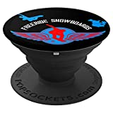 Freeride Snowboards Design Wings North America Gift - PopSockets Grip and Stand for Phones and Tablets