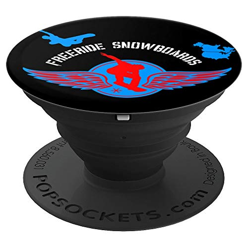 (Freeride Snowboards Design Wings North America Gift - PopSockets Grip and Stand for Phones and Tablets )