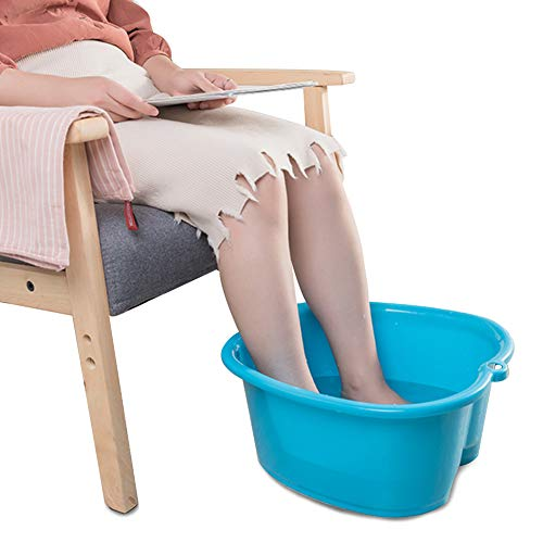 Foot Soaking Bath Basin, Foot Bath Tub, Large Size Foot Spa Bucket Foot Basin for Soaking Foot, Pedicure and Foot Massage, Blue