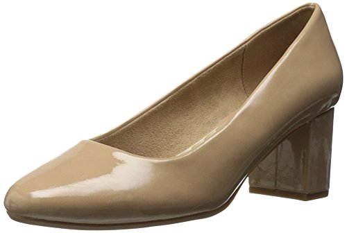 Easy Street Women's Proper Dress Pump Nude Patent 9.5 W ()