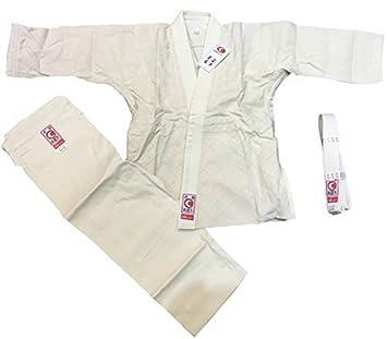 Traje de judo, traje Aikido Gr, 0/120 beige con cinturón SV ...