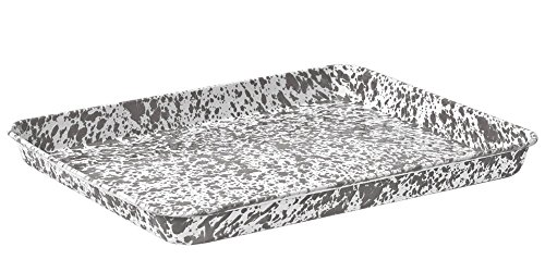 Enamelware Jelly Roll Tray - Grey Marble