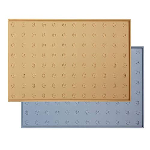 WooPet! Pet Food Mat 24''x16'' Tan Extra Large, Premium Silicone Food Safe Cat or Dog Feeding Mat by WooPet! (Image #10)