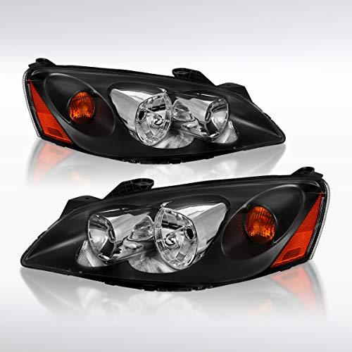 2006 Sedan G6 Pontiac Gtp - Autozensation For Pontiac G6 Replacement Black Headlights Lamps w/Amber Reflector Pair