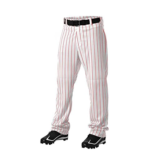 ALLESON 605WPNY YOUTH PINSTRIPE UNIFORM CUSTOM SELECT TEAM PANTS STRIPPED A Red L
