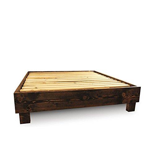 Rustic Wood Platform Bed Frame