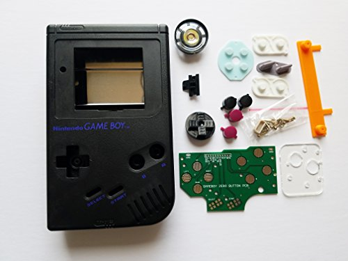 Black Starter Kit Gameboy Zero DMG-01 4 Button PCB DIY W/ Case Speaker & Buttons by Atomic Market