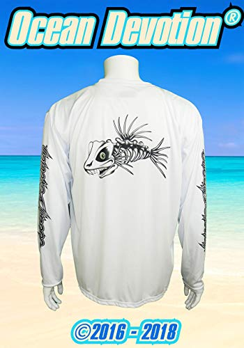 Devotion - White - XL Performance Men's Long Sleeve T-Shirt -100% Poly -Keywords. Surfing, Fishing, Harvey, Paddle board, Offshore, shirt, Salt Life, Reel, Beach Life, Surf ()