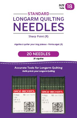 (Handi Quilter Longarm Quilting Needles - Standard Sharp Point (R) Size 18 (Pack of 20))