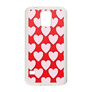 Lightweight Case Light Hearts Printed Hard Plastic case Snap-on cover for Samsung Galaxy S5