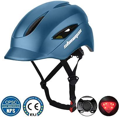 Shinmax Casco de Bicicleta con Casco de Bicicleta Certificado CE y ...