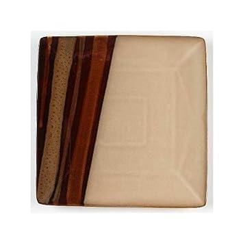 Amazon.com | Sango Avanti Brown Dinnerware Square Salad Plate ...