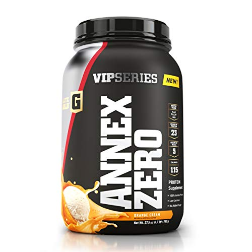 (Complete Nutrition Elite Gold VIP Series Annex Zero Whey Protein Powder, Orange Cream, 23 g Protein, 5+ g BCAAs, 1.7 lb Tub)