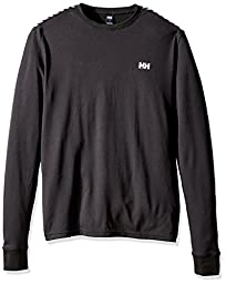 Helly Hansen Men\'s HH Active Flow Long Sleeve Base Layer Shirt, Black, Large
