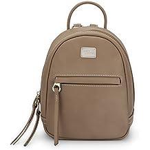 DAVIDJONES Women's Faux Leather Mini Backpack Shoulder Bag Purses