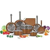 Deals on Copper Cookware Pots and Pans Set w/Griddle (13-Piece)