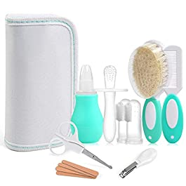 LEADSTAR Baby Care Set, Infant Grooming Kit Baby Combing Care Accessories Safety Cutter Nail Care Set Nursery Baby Health Care Kit for Infants Newborns