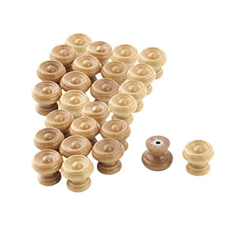 uxcell Home Mushroom Design Door Cabinet Wardrobe Handgrip Pull Knob 26pcs Wood Color by uxcell