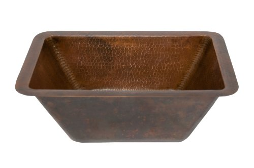 rectangle hammered copper bathroom sink