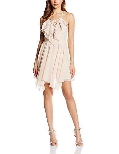 Nude Beige up Lipsy Damen Ruffle Kleid Lace X878ZnYz|developer.maler ...