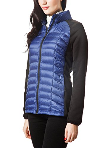XPOSURZONE Fleece Puffer down jacket Women Mixed Media Down Jacket ...