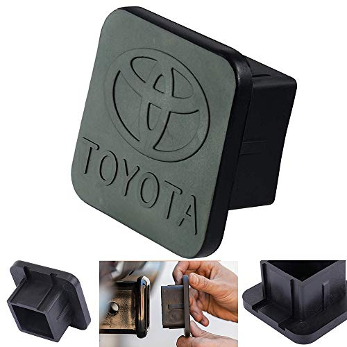 Trailer Hitch Tube Cover Plug Cap for Toyota,Toyota Logo Rubber Receiver Tube Hitch Plug,Toyota Trailer Hitch Cover (Toyota) (Trailer Hitch Cover Toyota)
