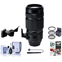 Fujifilm XF 100-400mm F4.5-5.6 R LM OIS WR Lens - Bundle with 77mm filter kit, Flex Lens Shade, Cleaning Kit, Capleash, Software Package