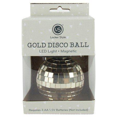 Locker Style™ Gold Disco Ball, LED Light, Magnetic