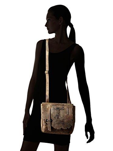 LandLeder Vintage Anatomy - Cross-Bag -Cees- Umhängetasche Schultertasche Unisex