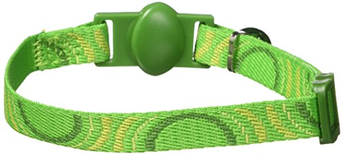 Petmate 8-12-Inch Eco Friendly Breakaway Circle Cat Collar, Green